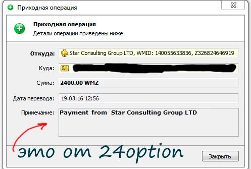 выплата от 24option